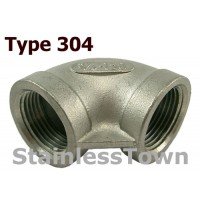 Type 304 Stainless 90 Degree Elbows