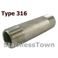 Type 316 Stainless Pipe Nipples