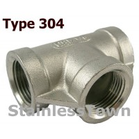 Type 304 Stainless Pipe Pipe Tees