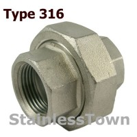 Type 316 Stainless Pipe Unions