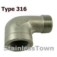 Type 316 Stainless 90 Degree Street Elbows