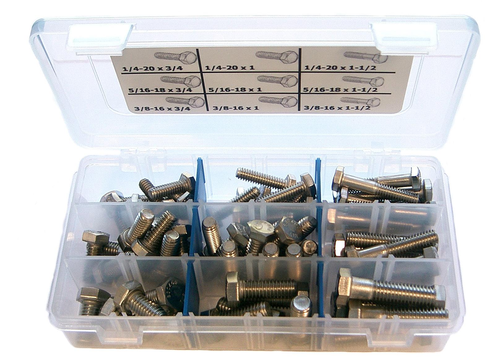 stainless hex bolt kit